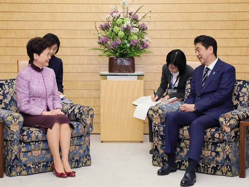 林鄭月娥(キャリー・ラム)香港特別行政区行政長官による表敬-平成31年4月9日
