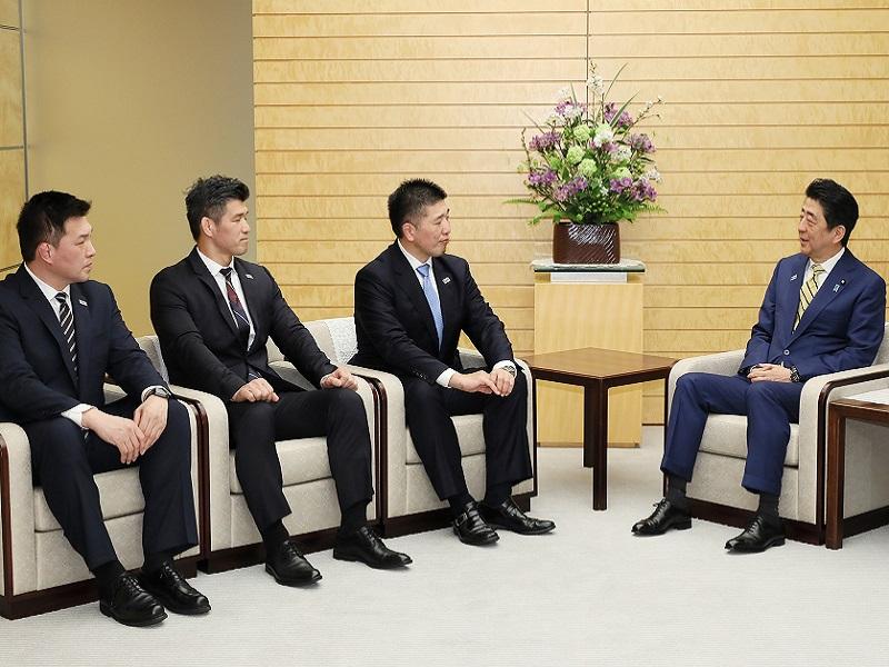 柔道日本代表首脳による表敬-平成31年4月11日
