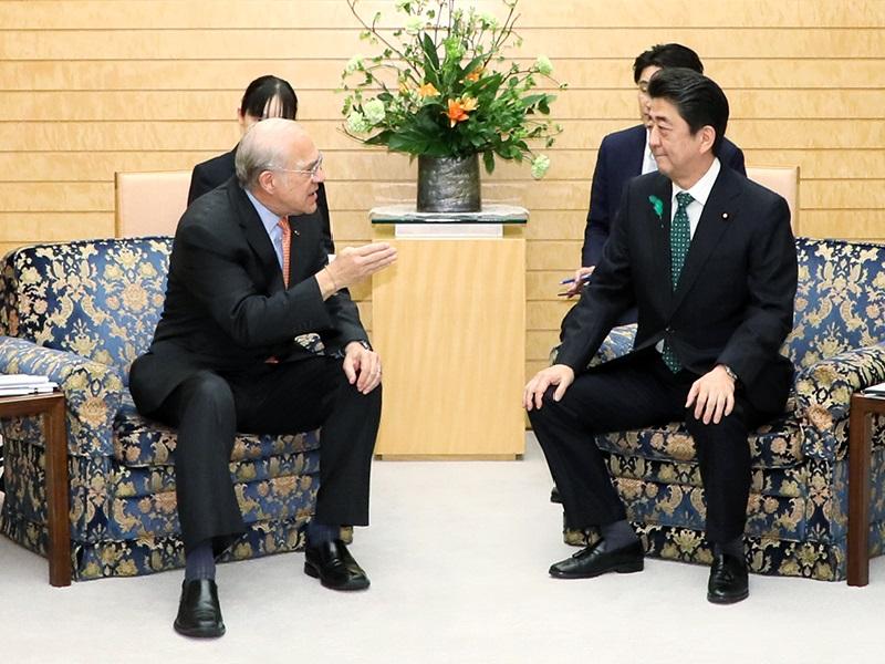 グリアOECD事務総長等による表敬-平成31年4月15日