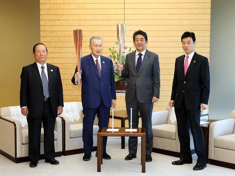 森東京オリンピック・パラリンピック競技大会組織委員会会長等による表敬-令和元年5月9日