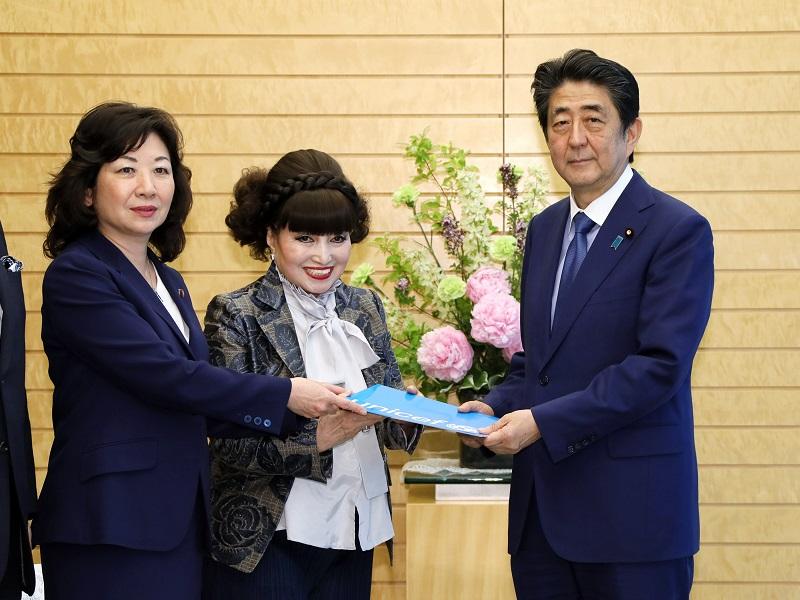黒柳徹子・国連児童基金(UNICEF)親善大使及びユニセフ議員連盟による表敬-令和元年5月16日