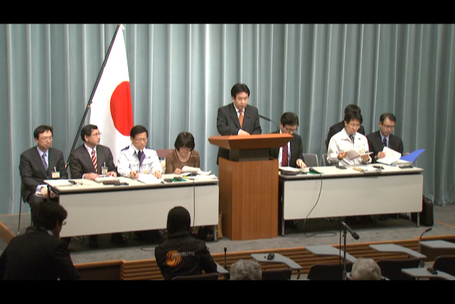 Press Briefing(The Situation after the Great East Japan Earthquake)(April 12th, 2011, at 19:30)