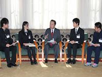 東北6県の高校生による表敬―平成24年2月19日(ハイライト)
