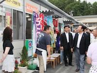 岩手県下訪問―仮設住宅居住者や事業者らと意見交換―平成24年7月14日(ハイライト)
